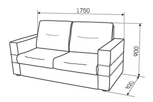 Габаритные размеры прямого дивана