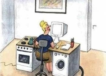 Карикатура - стол