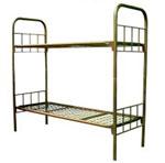 Солдатская железная двухуровневая кровать