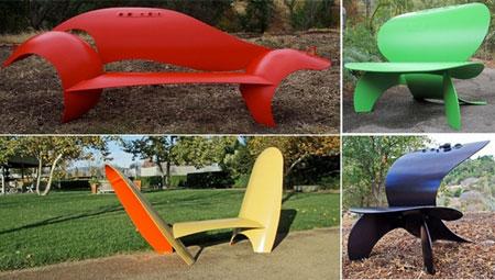 Оригинальные скамейки в парках