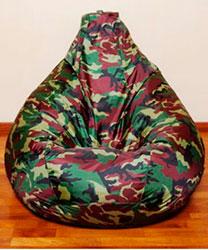 кресло-мешок в стиле милитари