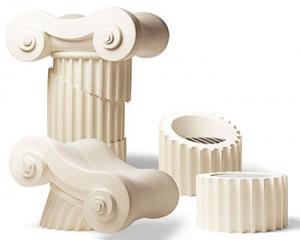 Коллекция мебели в виде античной колонны