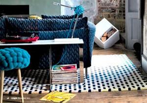 вязанная мебель в интерьере
