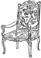 Кресло резное с гобеленовой обивкой