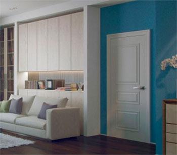 Белые межкомнатные двери от компании Flat Wood