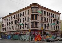 Дом падающей мебели в Сан-Франциско