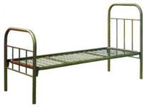 Солдатская железная одноярусная кровать