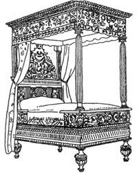 Ренессансная мебель - Кровать