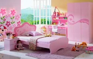 Розовая детская мебель для девочек