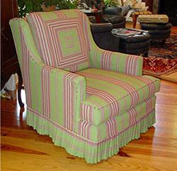 Плотно сидящий чехол на кресле