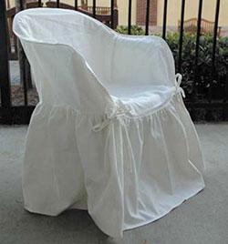 Свободный чехол на кресле